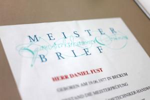 Movanum in Beckum – Meisterbrief
