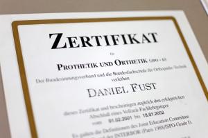 Movanum in Beckum – Zertifikat Prothetik und Orthetik